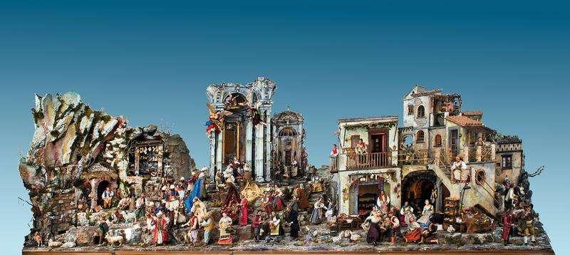 Il presepio monumentale realizzato dalla Sede di Napoli