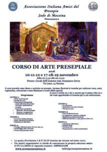 Locandina corso presepi Messina 2016