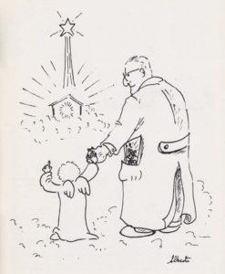 Stefanucci muore il 7 dicembre 1990 (disegno di Alberto Finizio)
