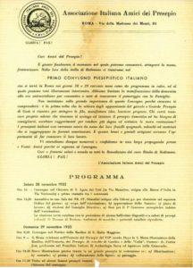 Il volantino che convocava gli Amici del Presepio per la fondazione