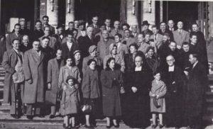 La prima foto di gruppo, nel primo giorno di vita dell'Associazione, davanti alla basilica di S. Maria Maggiore a Roma