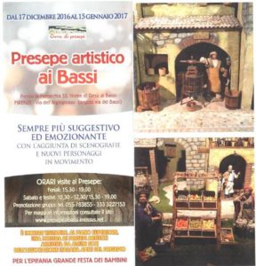 Locandina Mostra Presepi a Bassi - Firenze
