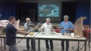 Un momento dei lavori del Corso di Presepistica a Taranto - giugno 2016