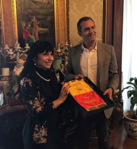 Stefania Proietti e Luigi De Magistris