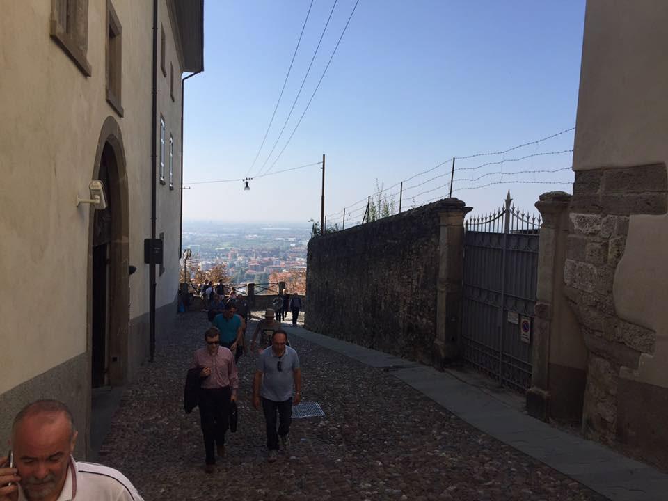 Allestimento mostra a Ponte San Pietro e sopralluogo a Bergamo