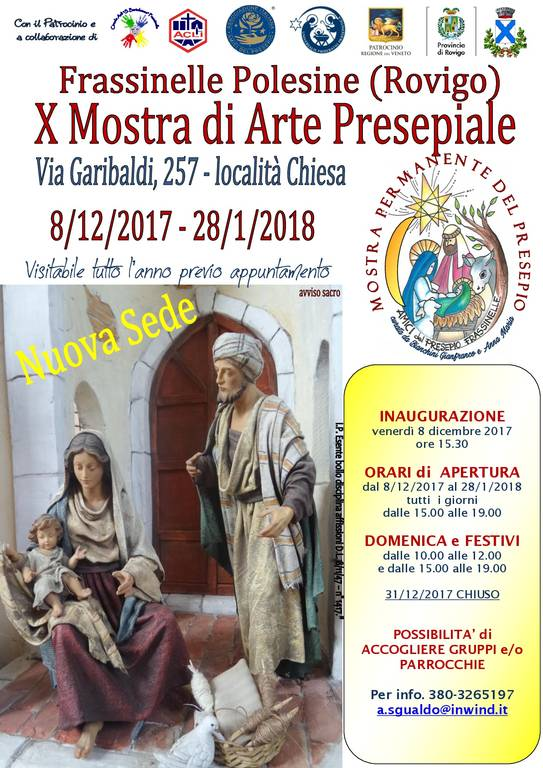 Mostra Presepio permanente Frassinelle Polesine 2017