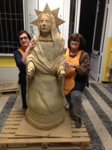presepe abissi - statua madonna