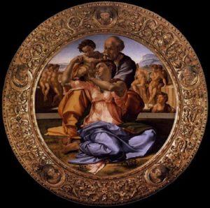 Santa Famiglia - tondo doni - Michelangelo