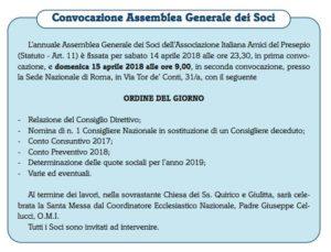 convocazione assemblea soci 2018