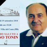 Domani i funerali di Igino Tonin