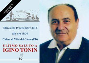 IGINO TONIN Funerale