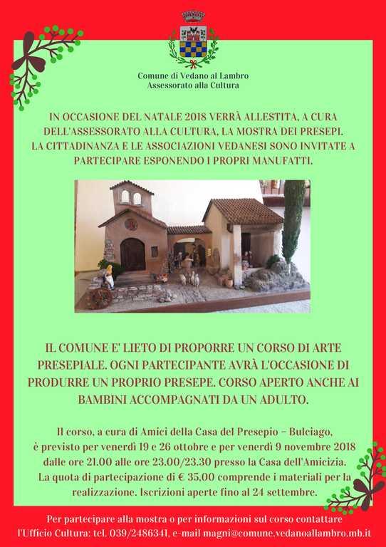 Manifesto-Corso-Presepi-2018-Vedano-al-Lambro