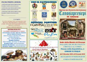 Mostra CanosaPresepi 2018 - volantino