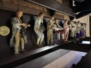rieti - statue in costumi pinelliani presepio valle primo presepe