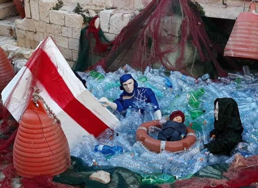 Foto La Repubblica - bari - migranti naufraghi natività