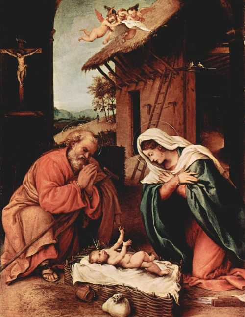 Tavola della Natività di Lorenzo Lotto