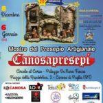 CanosaPresepi, inaugura oggi la mostra d'Arte presepiale.