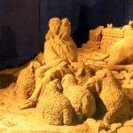 Terracina, inaugurato il presepe di sabbia