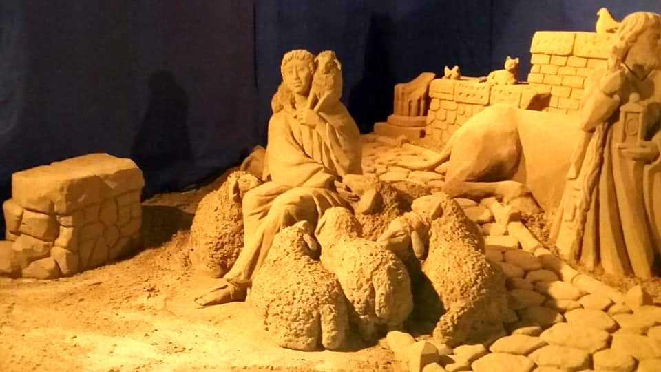 Presepe di sabbia inaugurato a Terracina