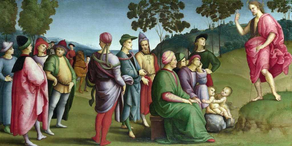 Raffaello Sanzio - Predica del Battista