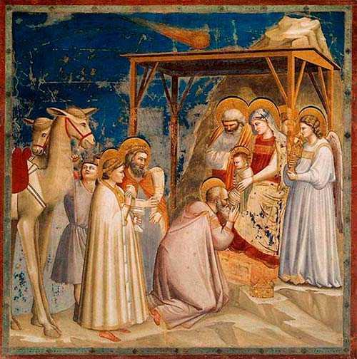 Dipinto di Giotto - L'Adorazione dei Magi