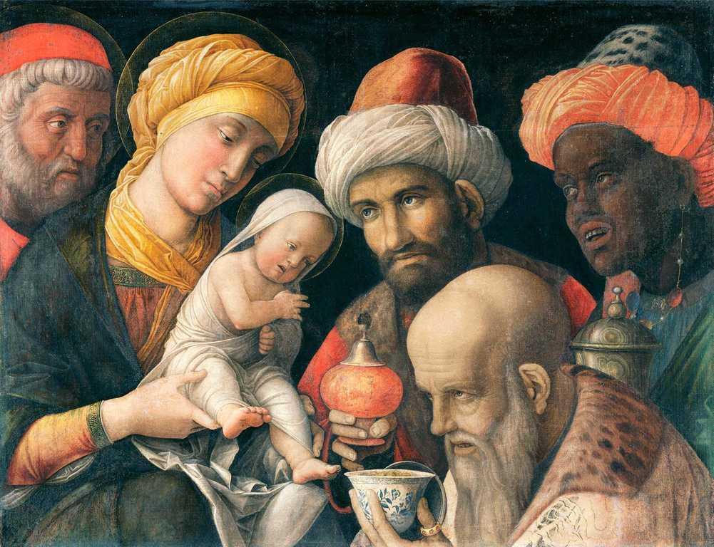 Adorazione dei Magi - Dipinto di Andrea Mantegna