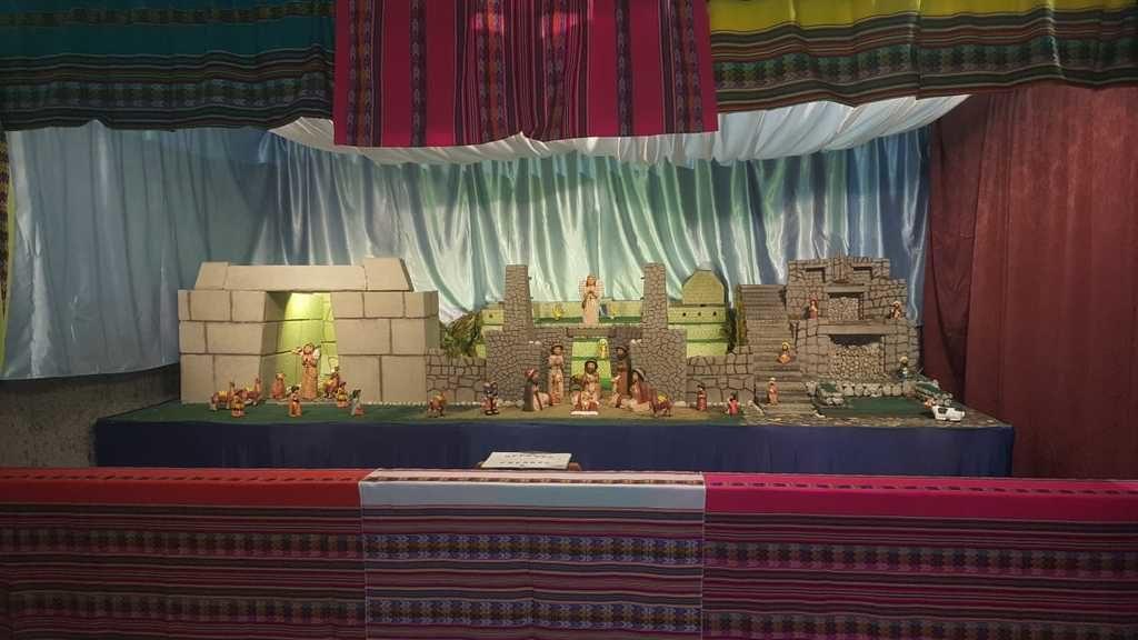 Presepio da Cuzco al Machu Picchu sulle orme degli Incas - chiesa san tarcisio a Roma