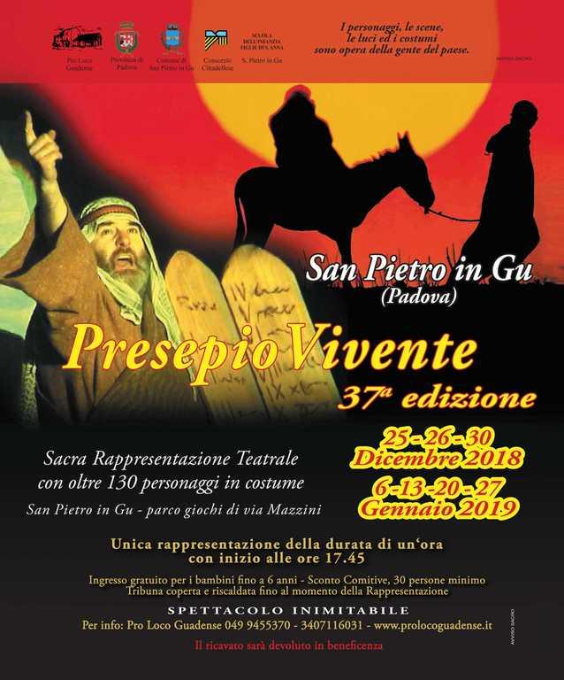 Locandina presepio vivente - San Pietro in Gu - Padova 2018-2019