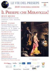 Locandina XII edizione - Le Vied el Presepe - Sesto san Giovanni 2018