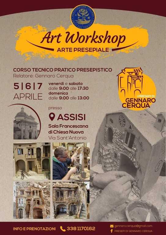 Locandina Corso presepistico - Gennaro Cerqua - Assisi 2019