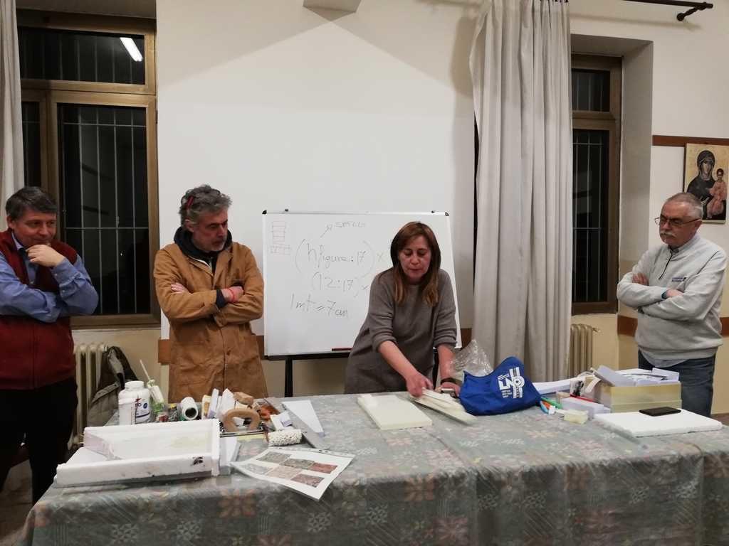 Corso tecnica presepistica a Roma sede naz.le AIAP - 8 Marzo 2019 -   Santa Maria Regina degli Apostoli