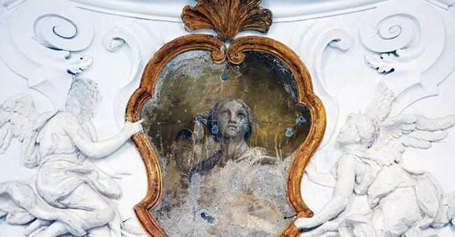 decoro all'interno della Chiesa dei Tre Re a Palermo - Foto Balarm.it
