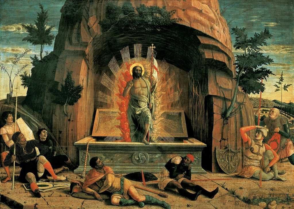 Andrea Mantegna - Resurrezione - tempera su tavola
