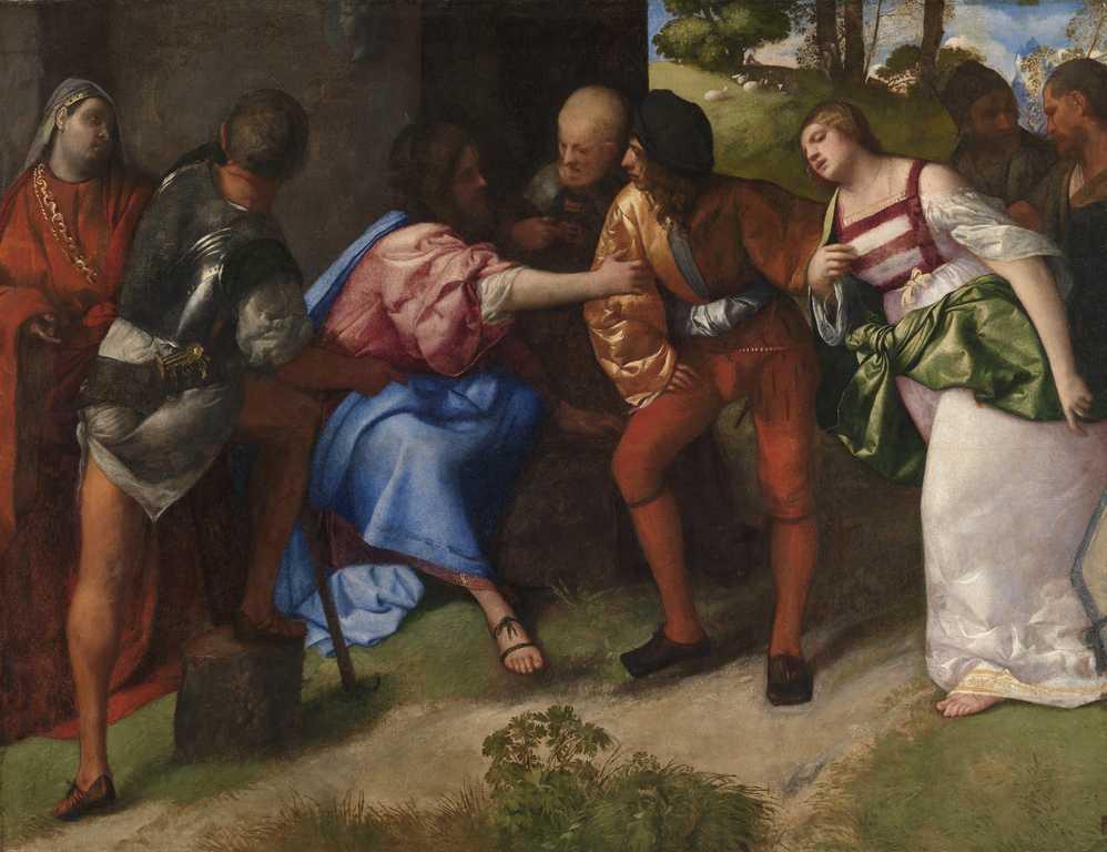 """Dipinto di Tiziano """"Cristo e l'adultera"""""""