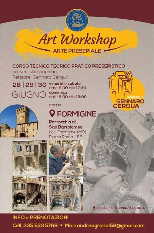 Formigine (MO) corso tecnico teorico pratico presepistico - Gennaro Cerqua