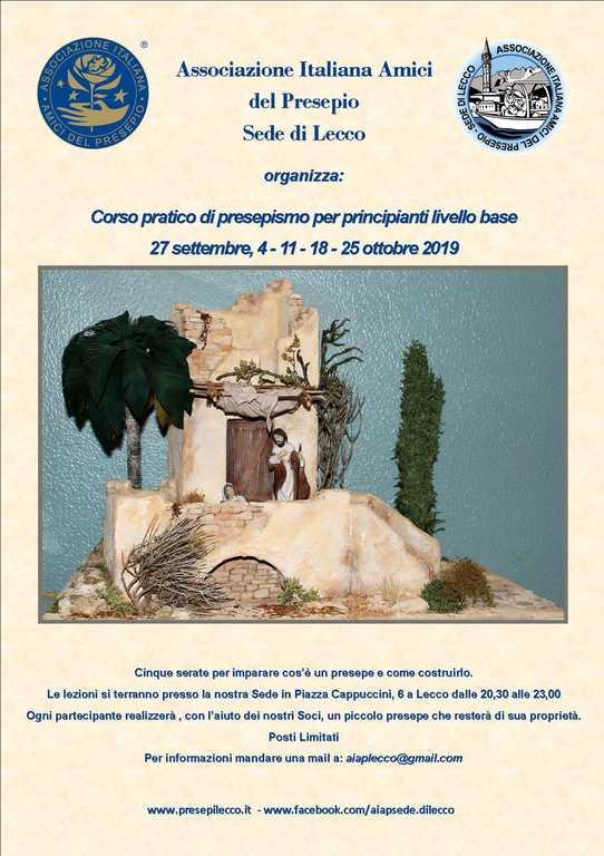 Aiap Lecco - Locandina corso  presepismo settembre 2019