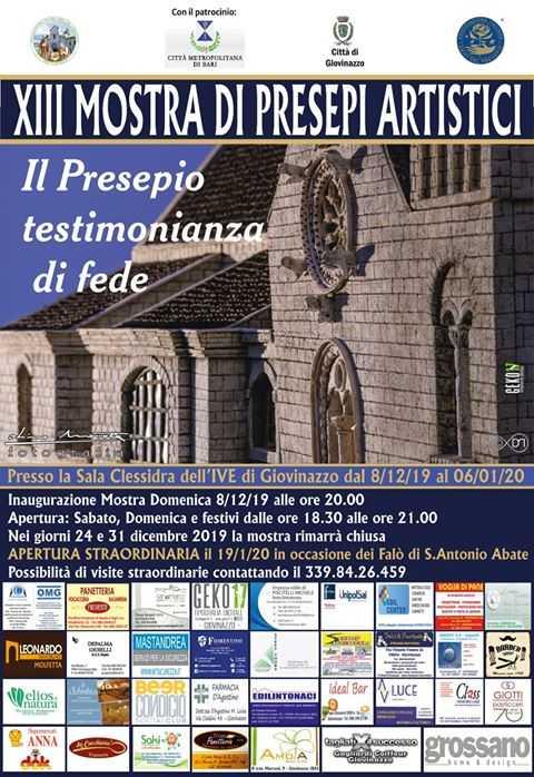 locandina mostra 2019 - sede aiap giovinazzo - 13 mostra presepi artistici