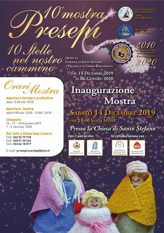 Locandina Sede cisano bergamasco - mostra 2019
