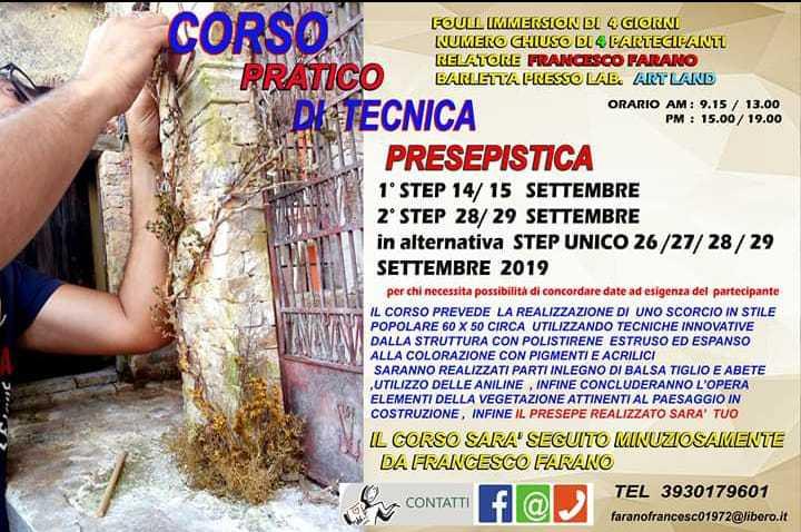 corso di francesco farano a barletta - settembre 2019