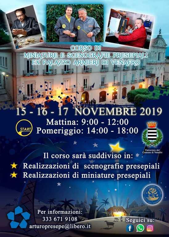 locandina Corso Venafro 2019 - Parrillo e Zompa