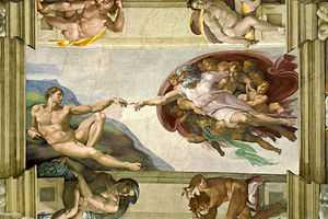 Creazione di Adamo Michelangelo - cappella sistina