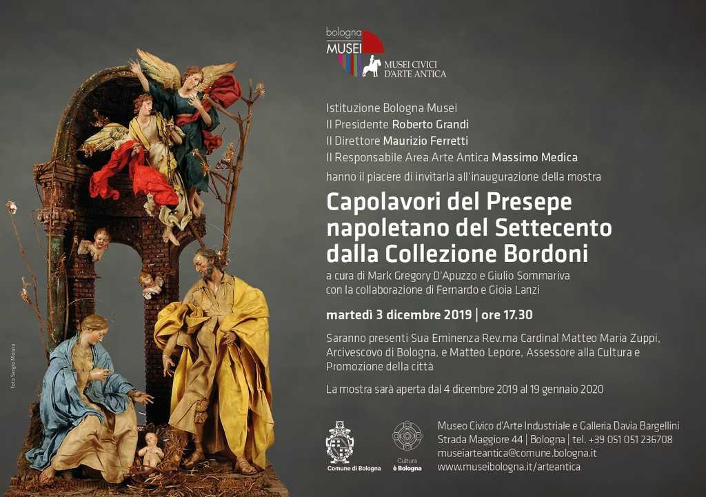 Invito Bologna presepi 2019 - Capolavori del Presepe napoletano del Settecento dalla Collezione Bordoni