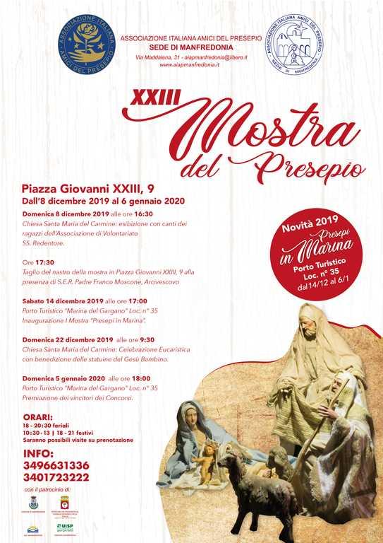 Locandina sede aiap manfredonia 2019 - 23 mostra presepi