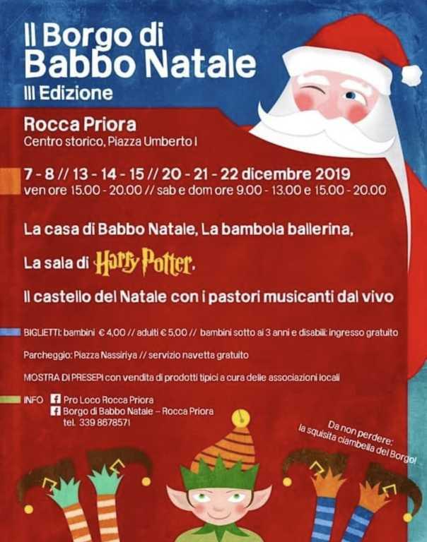 rocca priora - borgo babbo natale 2019