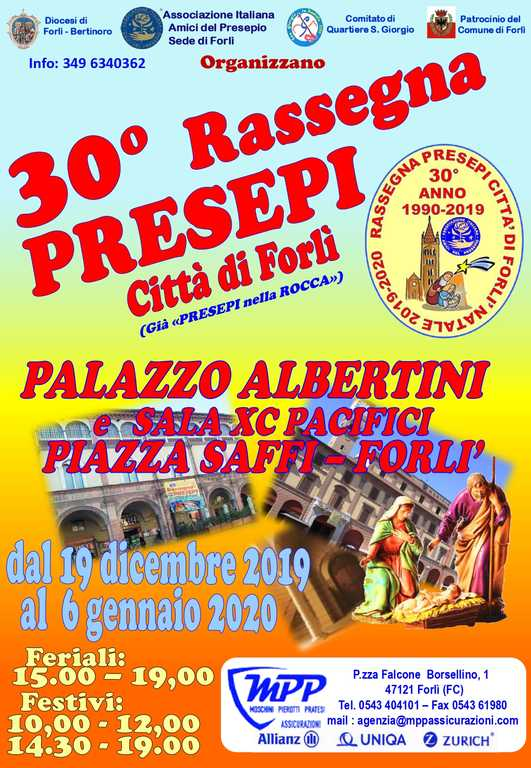 Forlì 30 Rassegna Presepi - MANIFESTO 2019
