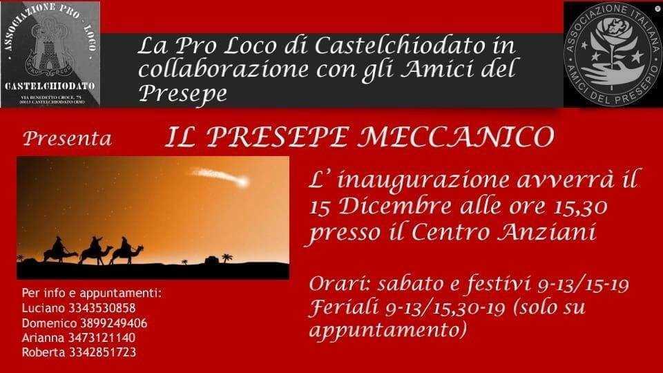 castelchiodato - presepe meccanico 2019
