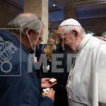papa francesco e alberto finizio - 100 presepi - 2019