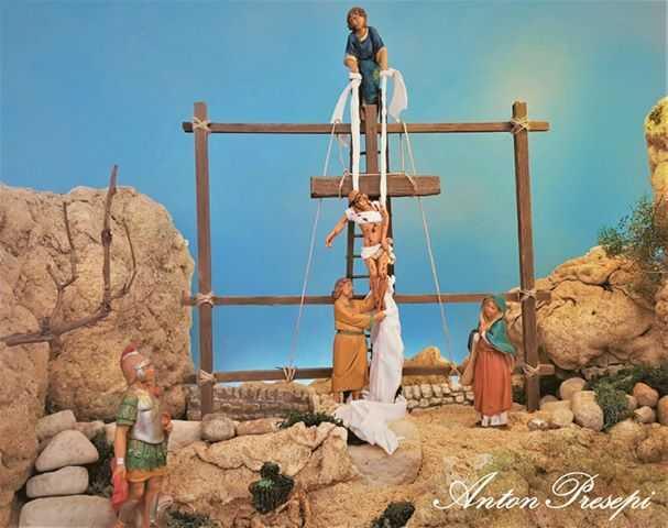 ANtonPresepi - diorama la deposizione della croce