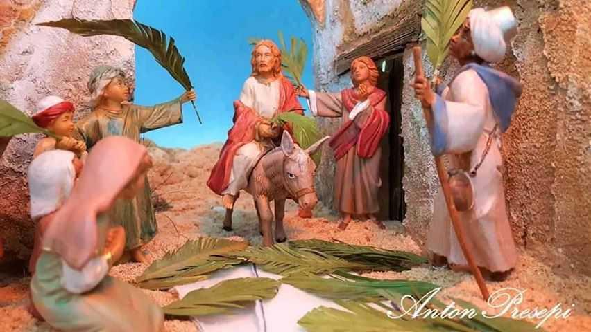 diorama pasquale realizzato da AntonPresepi