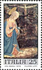 prima emissione francobolli a tema natalizio